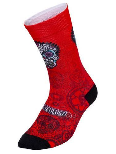 Cycology Day of the Living Red Cycling Socks